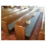14 ft oak church pew