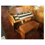 Hammond organ and bench
