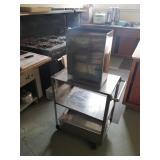 stainless cart w/ bins
