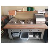 natural gas steam table and pans