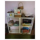 wood shelf- kids toys-puzzles