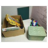box toys-games-puzzles-bread box-chalkboard