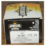 Armscore 45 ACP,  230 Grain JHP