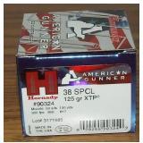 Hornady  38 Special  125 Grain XTP
