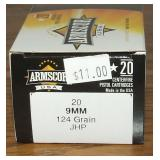 Armscore 9mm Luger  20 Rounds