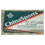 China Sports 7.62X39, 20 Rounds