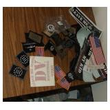 large Lot of Velcro Backed Patches and Bumper Stic