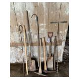 Shovels, Pick Axe, Auger Bit & Other Hand Tools