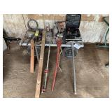 Pipe Bender, Breaker Wrench, Wood Levels & Tools