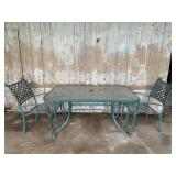 Patio Table with 2 Chairs - 5-ft x 3-ft