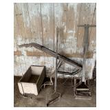 Vintage Garden Tools & Wood Box