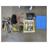 Air Compressor, Binoculars, and Assorted Shop Supp