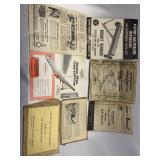 Lot of 7 Miscellaneous Operating Manuals