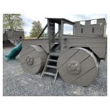 Wooden Monster Truck Play Set Playground Equipment