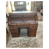 Walnut Barrel Front Desk