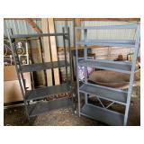 (2) light duty shelving units
