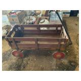 Vintage red wagon Deluxe 6-1 truck