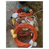 12+ assorted extension cords