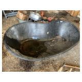 fiber glass fish pond w/ garden tools (3-4