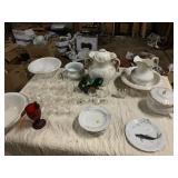 pitcher & bowls, chamber pots, stemware, carnival