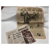 1935 Cubs/Cardinals News Paper +