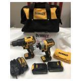 DeWalt Cordless Brushless Drill Set ~ Like New