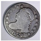 1827 CAPPED BUST DIME, FINE