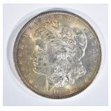 1883-O MORGAN DOLLAR, CH BU GORGEOUS OBV TONING
