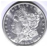 1890-S MORGAN DOLLAR, CH BU FLASHY