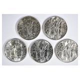 5-NICE CH BU SILVER 1 BALBOA COINS