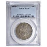 1858-O SEATED HALF DOLLAR PCGS