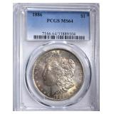 1886 MORGAN DOLLAR PCGS