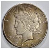 1928 PEACE DOLLAR XF
