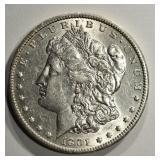 1901-S MORGAN DOLLAR AU/BU