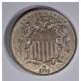1868 SHIELD NICKEL  BU