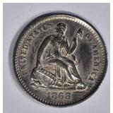 1868-S SEATED LIBERTY HALF DIME  GEM BU