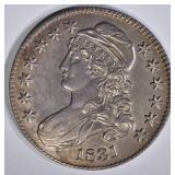 1831 CAPPED BUST HALF DOLLAR  CH BU
