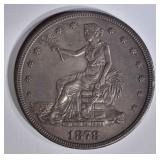 1878-S TRADE DOLLAR  CH BU