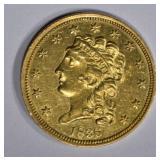 1836 $2 1/2 GOLD CLASSIC HEAD  CH BU