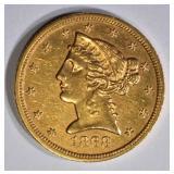 1868-S $5 GOLD LIBERTY  BU