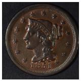 1851 LARGE CENT BU