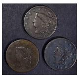 1817, 18, 28 LARGE CENTS VG-FINE
