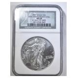 1997 AMERICAN SILVER EAGLE NGC MS-69