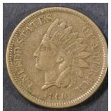1860 ROUND BUST INDIAN HEAD CENT  XF