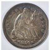 1853 SEATED LIBERTY HALF DIME  CH ORIG UNC
