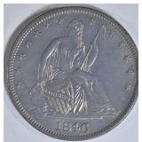 1846 SEATED LIBERTY HALF DOLLAR  BU
