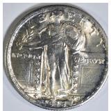 1918 STANDING LIBERTY QUARTER  BU