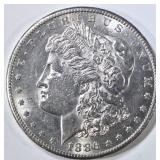 1886-S MORGAN DOLLAR  BU CONTACT MARKS ON OBV.