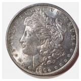 1902 MORGAN DOLLAR  GEM BU, COLOR