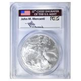 2004 SILVER EAGLE PCGS MS-69 MERCANTI SIGNED